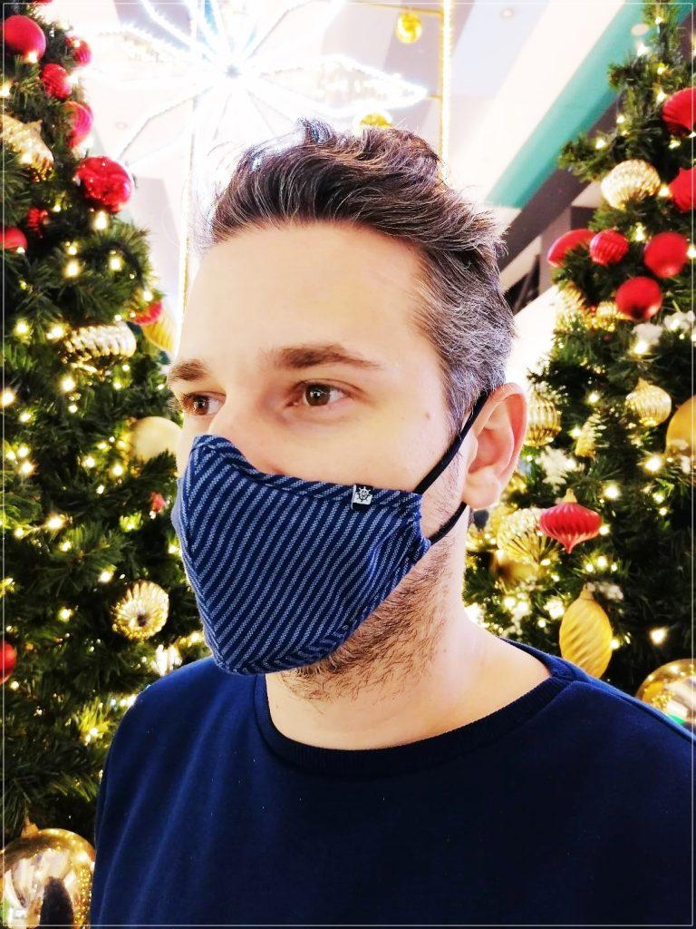 Masca textila bleumarin