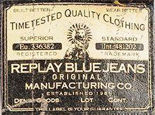 Eticheta blugi Replay Jeans