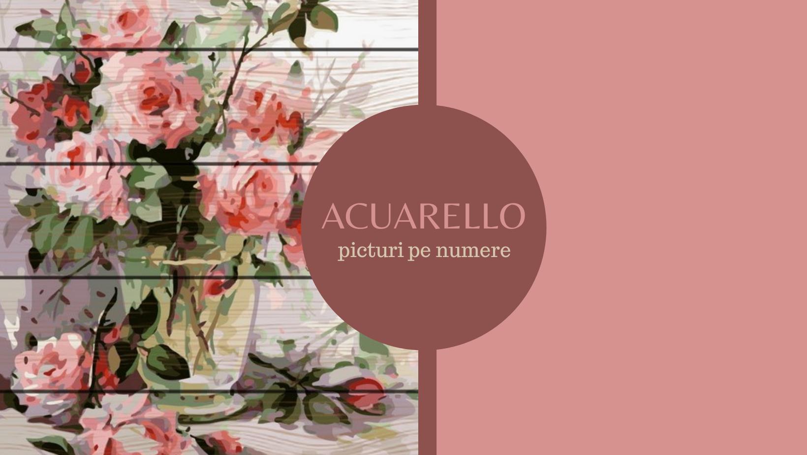 Acuarello.ro – picturi pe numere relaxante și motivante