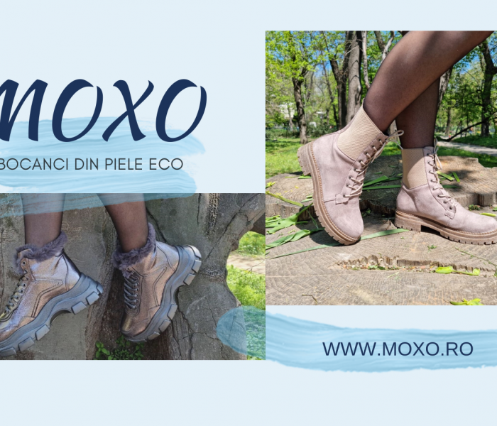 Bocanci din piele ecologică MoXo.ro